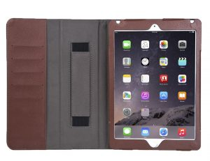 Genuine Leather Folio Case for iPad Air 2 Case Cover