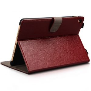 iPad Pro 9.7 Case Genuine Leather by CUVR in Oxblood Red With Auto Sleep and Apple Pencil Holder. Cover Your Apple iPad Pro in Luxury