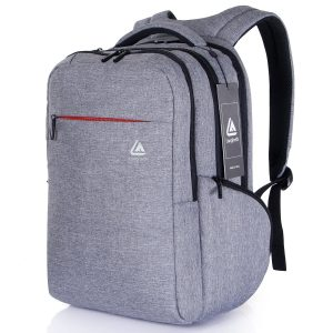 """Langforth Anti-thief 15.6"""" Laptop Backpack Water-repellent Lightweight Multipurpose Bags for Macbook Pro Grey"""