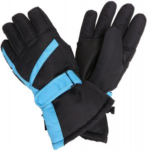 Simplicity Men's Windproof & Waterproof Thinsulate Snow/Ski Gloves