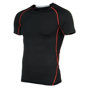 4ucycling Men Cool Quick Dry Baselayer Short Sleeve Compression T Shirts