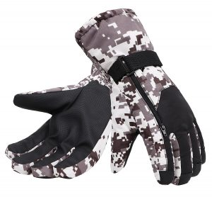 Simplicity Men's Camouflage Ski & Snowboarding 3M Thinsulate Water Resistant Winter Gloves
