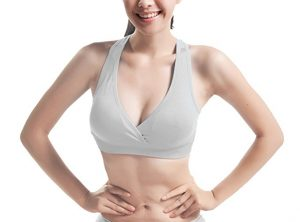 Have you ever seen the V neck wireless sport bra before? And have you ever dreamt of owning one or two of them? You'll look the best with the bra on. The bra is designed to fit in your boobs very well, so that it will look closed up, full, and together. Build up your confidence without shirt with this one bra.