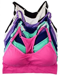 Barbra's 6 Pack Regular & Plus size Wirefree Seamless Bras with Removable Pads