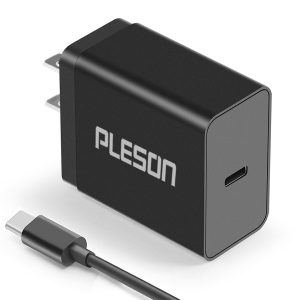 PLESON 15W USB-C Wall Charger with 3.3ft USB-C Cable