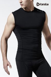 Tesla Men's Cool Dry Compression Baselayer Sleeveless R15