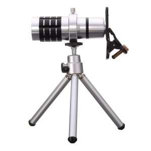 Hizek Universal 12X Optical Phone Camera Lens with Tripod