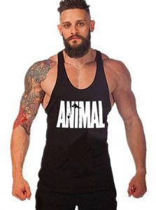 Efashionmx Mens Animal Letter Print Stringer Bodybuilding Gym Tank Tops