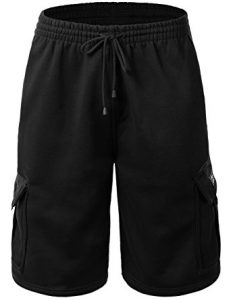Hat and Beyond Men's Cargo Sweat Shorts
