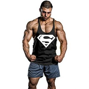 InleaderStyle Men's BodyBuilding S Logo Stringer Gym Tank Top