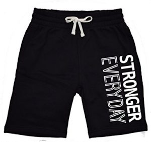 Interstate Apparel Inc Stronger Everyday Men's Fleece Sweatpants Shorts, Gym, Joggers