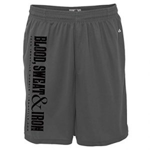 Ironville Blood Sweat and Iron Weightlifting Gym Shorts