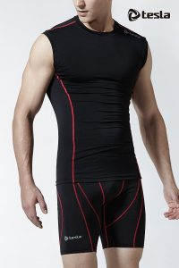 Tesla Men's Cool Dry Compression Muscle Tank Baselayer Sleeveless R15