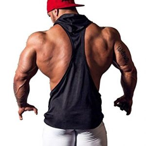 YiZYiF Men's Hooded Gym Tank Tops