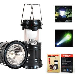 3-in-1 rechargeable solar LED Camping Lantern