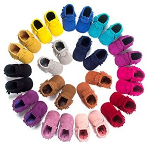 Baby Boys Girls First Walkers Tassel Soft Non-slip Crib Shoes Moccasin Sandal