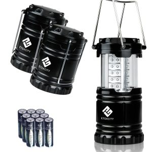 Etekcity 3 Pack Portable Outdoor LED Lantern with 9 AA Batteries