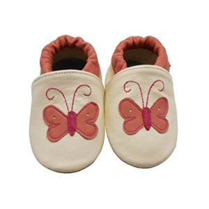 Sayoyo Baby Butterfly Soft Sole Leather Infant Toddler Prewalker Shoes
