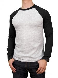 Men's Basic Full Raglan Sleeve Baseball Tee by Knocker