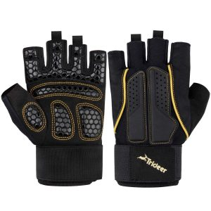 Trideer Double Protection Weight Lifting Gloves