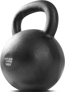 Cast Iron Kettlebell by Titan Fitness