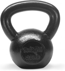 Solid Cast Iron Kettlebell by Yes4All